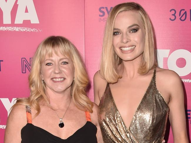 Tonya Harding and Margot Robbie attend a premiere of I, Tonya in Hollywood. Picture: Getty