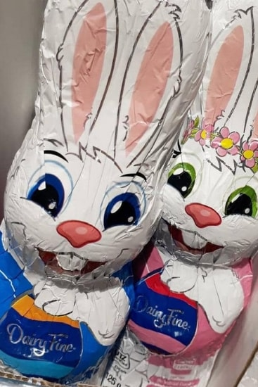 The Easter chocolate has 'misleading' packaging, advocacy groups claim. Picture: 4sistersaustraliaSource:Instagram