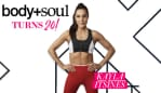 Celebrate body+soul's 20th birthday with Kayla Itsines.