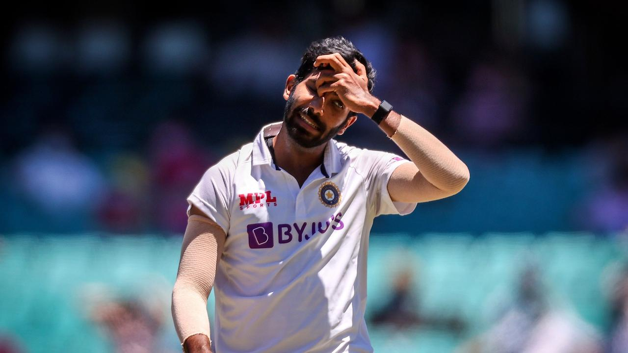 India's Jasprit Bumrah was left to curse his fielders