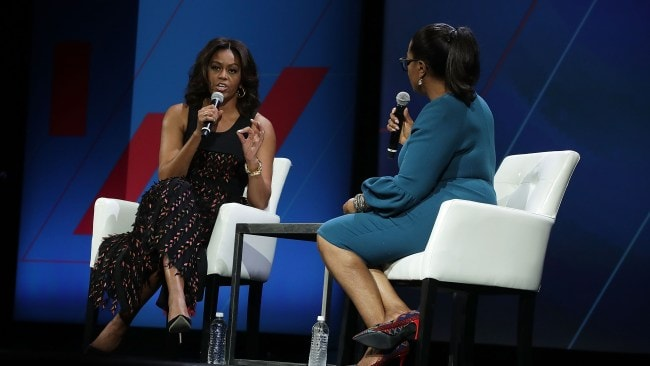 Michelle Obama in BOSS in 2016. Photo: Getty