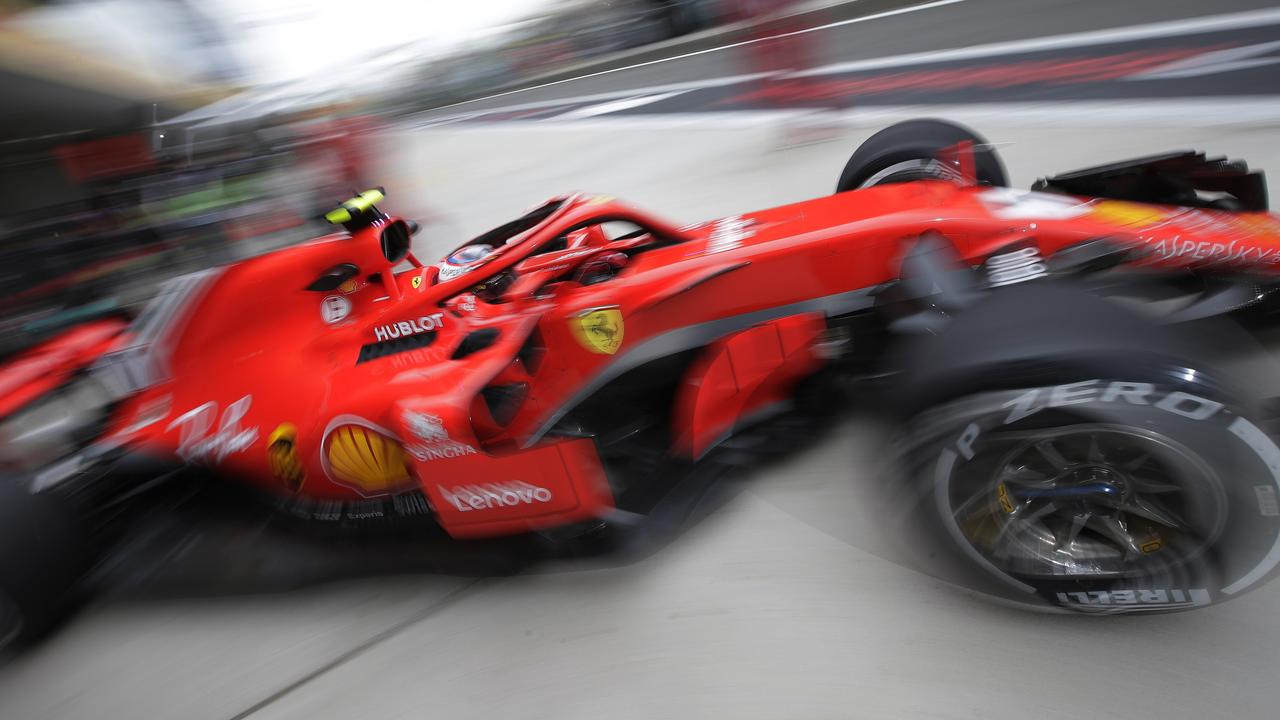 Raikkonen was the quicker of the Ferraris on Friday in China.