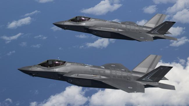 The proposed warship will be designed to carry up to 20 of America's jump-jet F-35B Lightning II joint strike fighters. Picture: Supplied