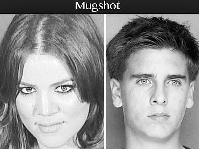 "Not their finest hour...Kourtney Kardashian posted this pic for Scott Disick's birthday, calling him her ""partner in crime."" Picture: Twitter"