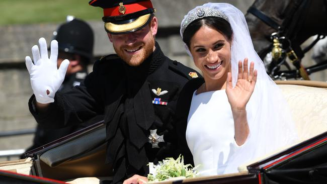 Meghan's bouquet was special for many reasons. Picture: Paul Ellis / AFP)