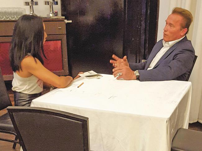Arnold Schwarzenegger sits down for a one-on-one with Lizza Gebilagin.
