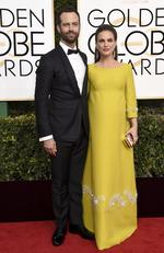 Benjamin Millepied and Natalie Portman attend the 74th Annual Golden Globe Awards at The Beverly Hilton Hotel on January 8, 2017 in Beverly Hills, California. Picture: AP