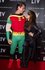 Scott Disick and Kourtney Kardashian arrive at Kim Kardashian's Halloween party at LIV nightclub on October 31, 2012 in Miami Beach. Picture: Getty