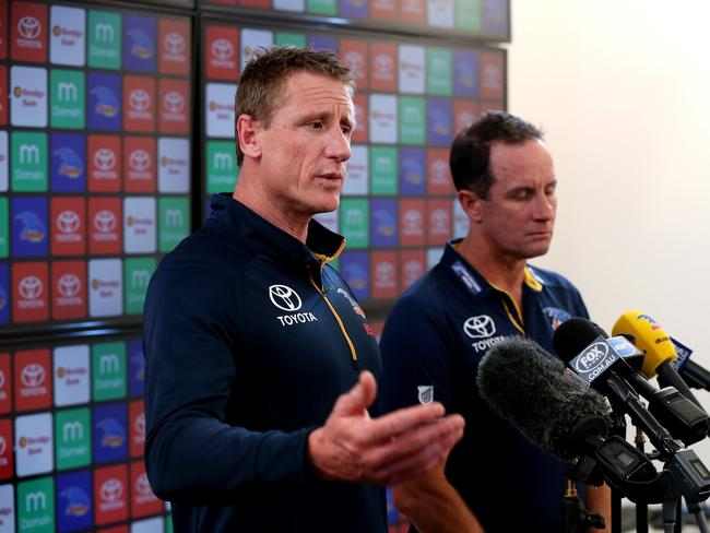 Burton and Pyke addressed the media over the infamous training camp.
