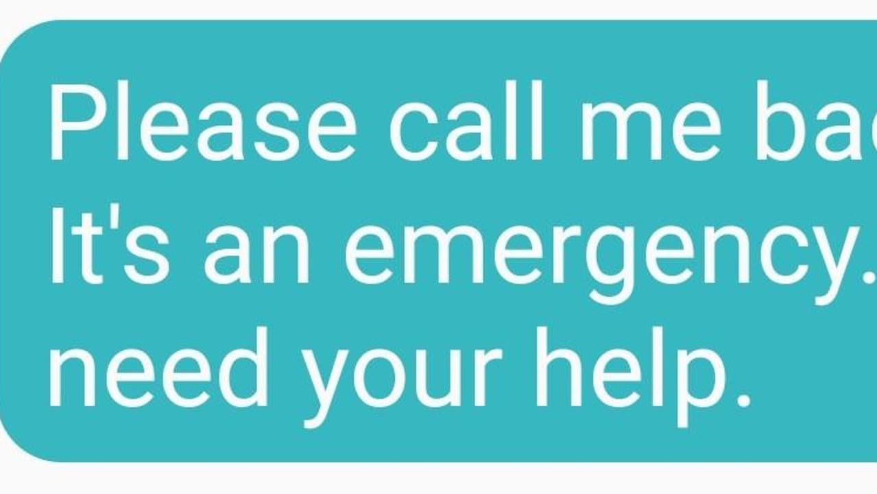 Watch out for this 'emergency' text scam