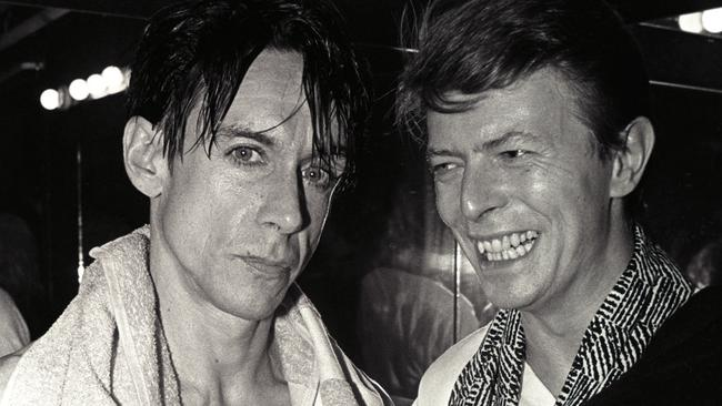 Harry dishes on both Iggy Pop (left) and David Bowie (right) in her new book. Picture: Larry Busacca/WireImage