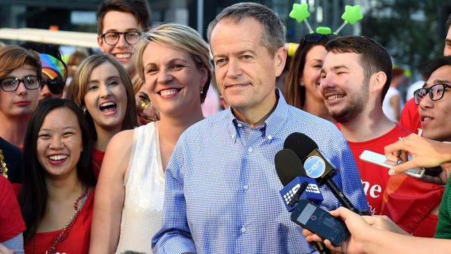 Opposition leader Bill Shorten says Malcolm Turnbull has been 'half hearted' on marriage equality. Picture: AAP Image/Dan Himbrechts