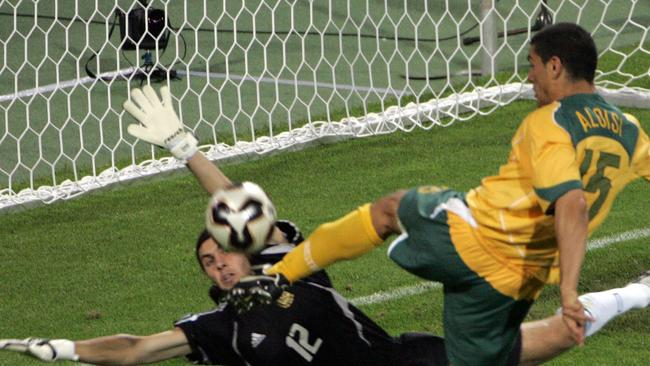 Aloisi scored doubles against Germany and Argentina in the 2005 Confederations Cup