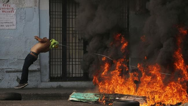 Mass protests are tipped across Venezuela overnight. Picture: AP