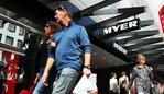 21/3/18 Shoppers at the Melbourne Myer store. Aaron Francis/The Australian