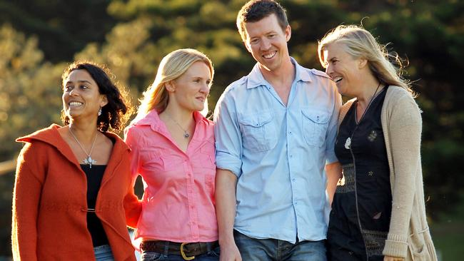 """Members of the """"Wake Up Sydney"""" movement pictured at Bronte Park. (L to R) Rohita Singh, Claire Mannus, Jono Fisher and Rachael Fisher."""