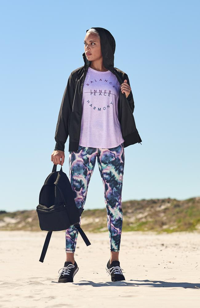 The leggings in the 'frozen' print.