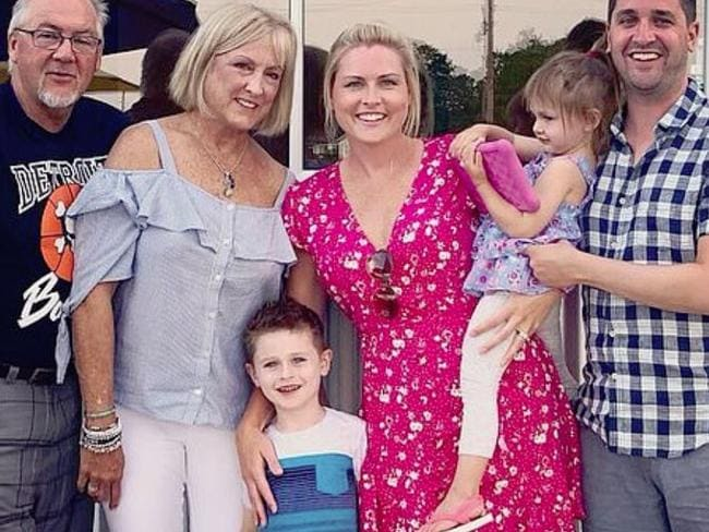 Jessica Starr with her family. Picture: Facebook