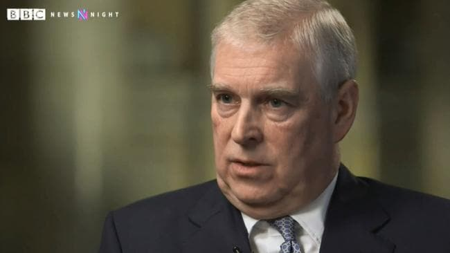 "Prince Andrew said it was not ""becoming of a member of the Royal Family"" to continue his friendship with Epstein. Picture: BBC"