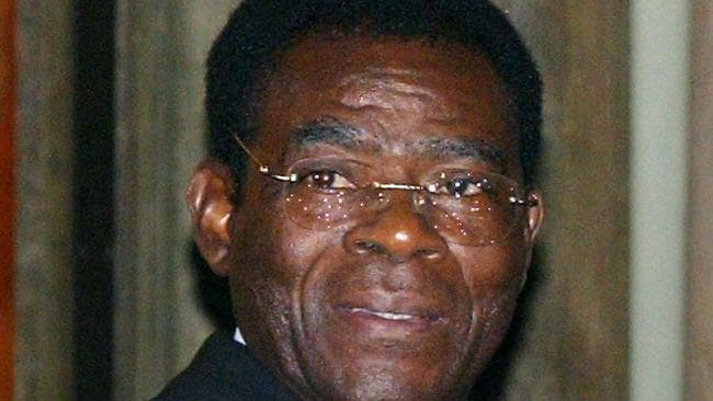 President of Equatorial Guinea Teodoro Obiang Nguema has been accused of eating his enemies' testicles. Picture: AFP