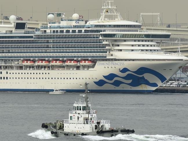 A man who was a passenger on the quarantined Diamond Princess has since tested positive for COVID-19 a second time. Picture: Kazuhiro NOGI / AFP