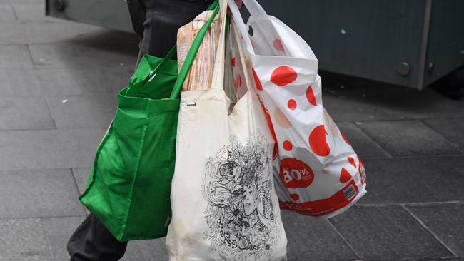 Australian states have banned the single use plastic bag, and now some states are introducing new regulations around the disposal of potentially harmful e-waste. Picture: Peter Rae