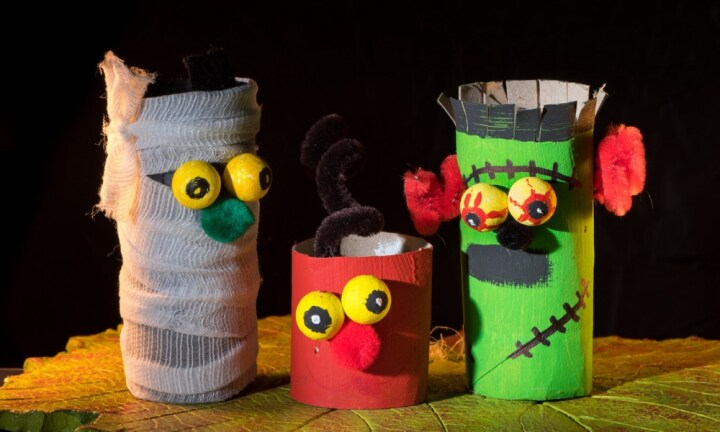 How to make spooky toilet roll monsters