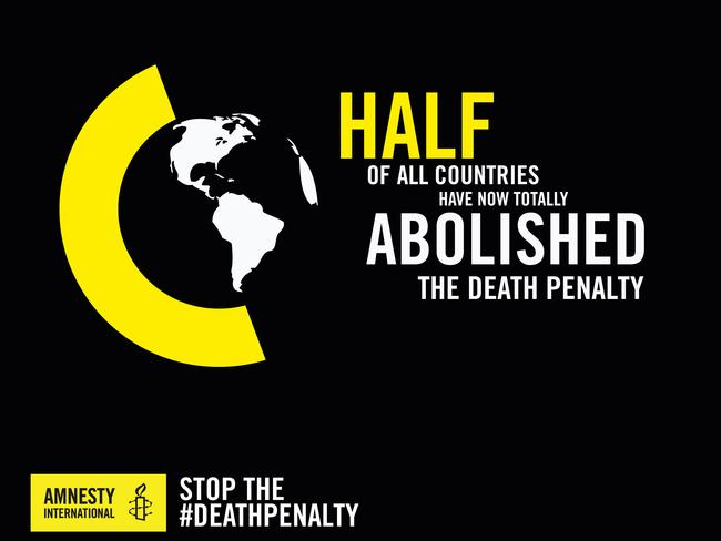 Amnesty International has called for a complete abolition of executions worldwide. Picture: Courtesy Amnesty International.