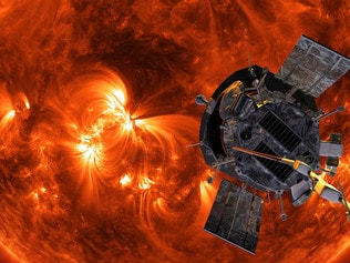 the Parker Space Probe near the Sun. Artist's impression. Supplied: NASA