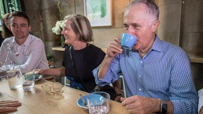Even Lucy and Malcolm Turnbull enjoyed a coffee at Bluestone Lane the last time they were in New York. Picture: Jake Nowakowski