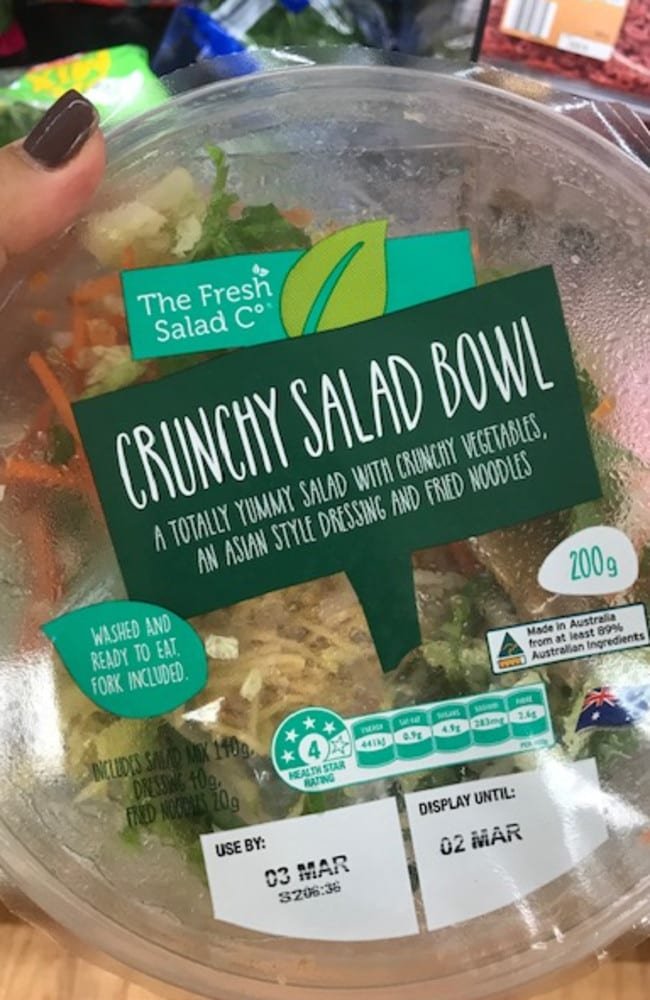 The salad bowl comes with everything you need for a quick, easy lunch.