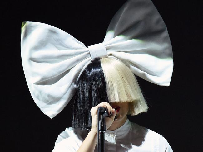 Singer Sia performs on stage during an Apple event in San Francisco on September 7. Picture: AFP / Josh Edelson