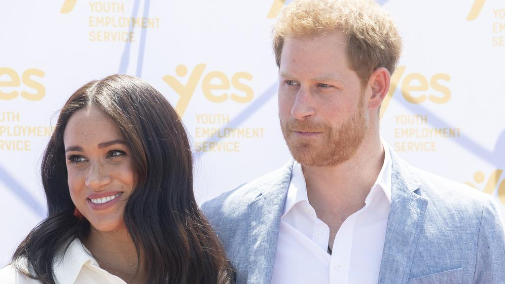 The couple's plans, pegged off 'Sussex Royal', were well under way. Picture: Facundo Arrizabalaga/Pool/Getty Images