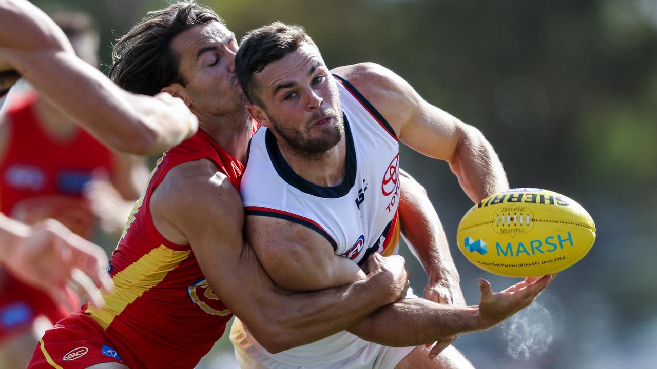 Adelaide gun Brad Crouch could be top of trade talk this year, AFL Photos)