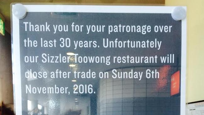 Several Sizzler stores have shut in recent months across Australia.