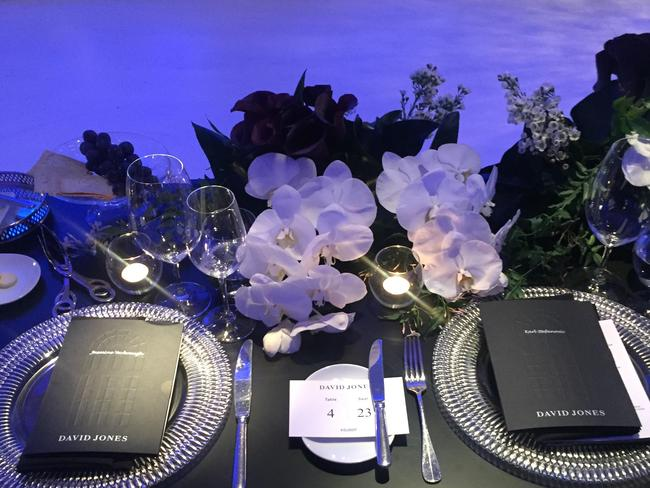 Stefanovic and Jasmine place setting. Picture: news.com.au
