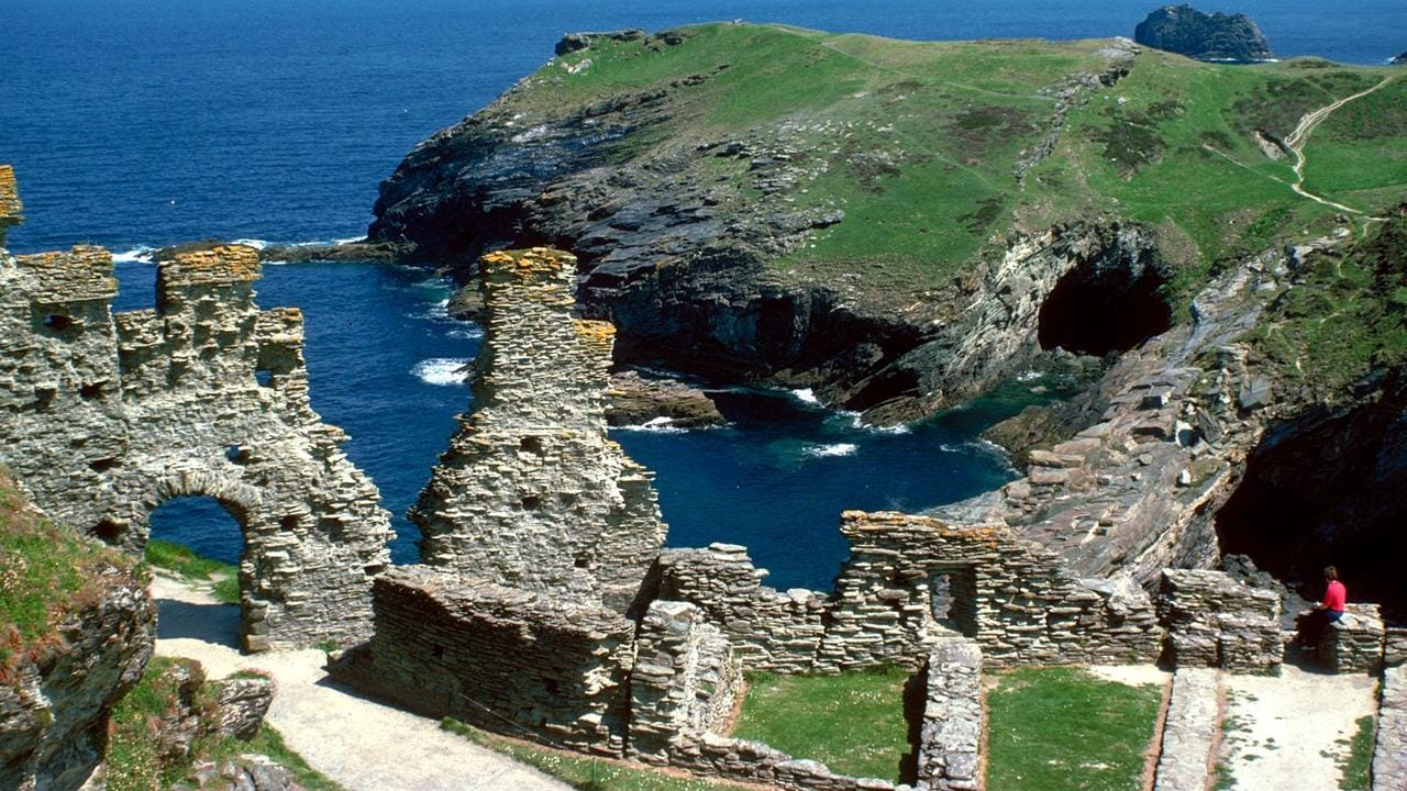 The ruins of Tintagel Castle in England. Picture: News Corp