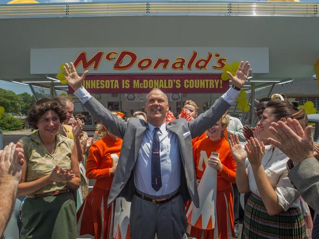 Michael Keaton as Ray Kroc in The Founder, the Weinstein Brothers' unflattering look at the corporation's backstory. Picture: Roadshow Pictures