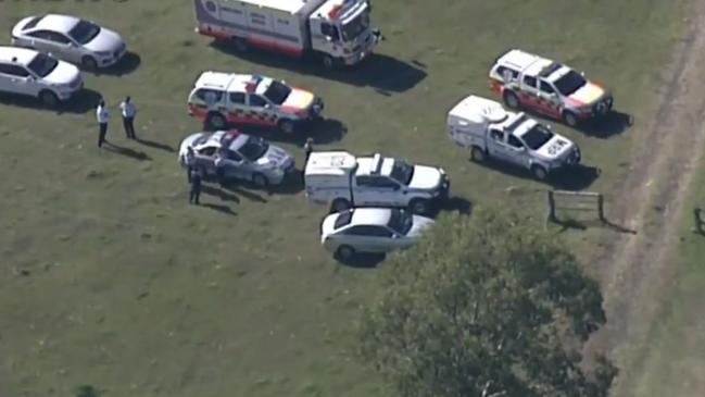It's believed the two started fighting in front of family and children about midday. Picture: 9 News