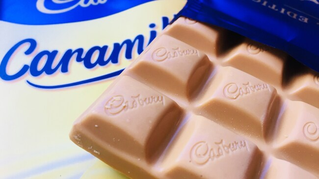 Cadbury Caramilk bars were a big success with customers. Photo: Supplied