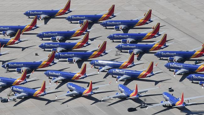 There are questions around when Boeing will get the MAX back in the sky. Picture: Mark Ralston / AFP