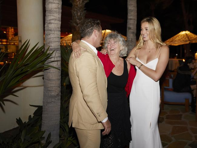 Karl Stefanovic with his mum Jenny (C) and Jasmine Yarbrough in the lead up to their wedding to be held in Mexico.