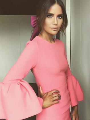 Jodi Gordon wore a pink Roksanda Ilincic dress. Picture: Instagram