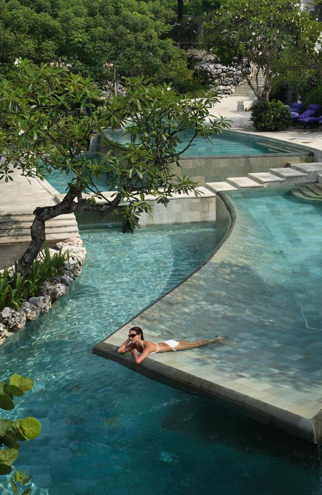 The River Pool at the Ayana Resort and Spa in Jimbaran, Bali.