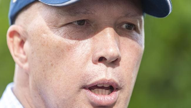 Federal Member for Dickson Peter Dutton sparked controversy over comments about his Labor opponent's disability. Picture: Glenn Hunt/AAP Image
