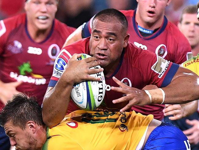 Caleb Timu's uncompromising style while playing for the Reds caught the eye of Michael Cheika.