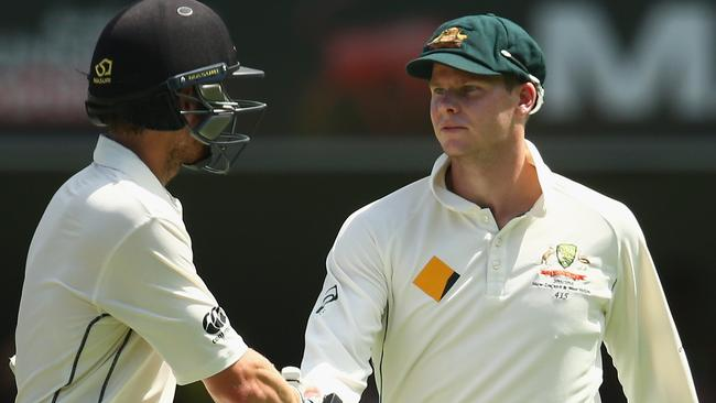 Kane Williamson of New Zealand and Steve Smith of Australia.