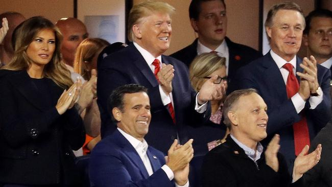 He kept grinning as the crowd booed him. Picture: Will Newton/Getty Images/AFP