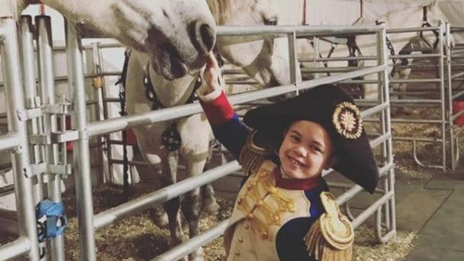 Sam Humphrey behind the scenes of  <i>The Greatest Showman. </i>Picture: Instagram