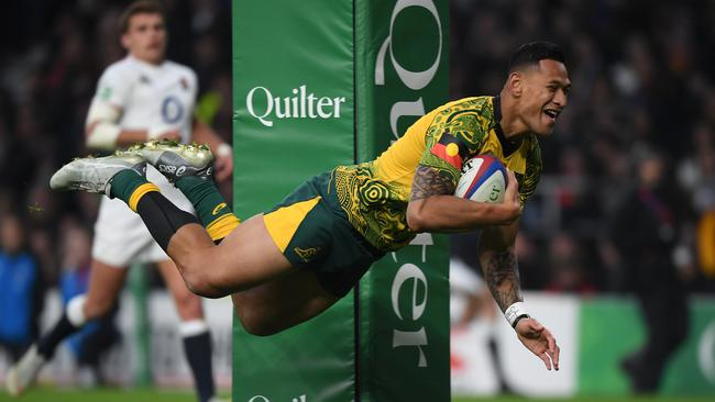 Israel Folau was a 73-Test star for the Wallabies. Picture: Shaun Botterill/Getty Images
